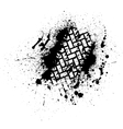 Tire track with ink blots vector image