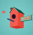 Birds house for sale vector image