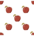 Seamless texture with a pattern of red apples vector image