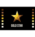 Gold star on black background Flat Style vector image