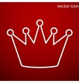 Crown icon and jpg Flat style object Art vector image