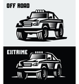 off-road suv car vector image vector image