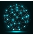 Abstract polygonal sphere network connections vector image