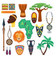 africa jungle tribal and ancient safari vector image