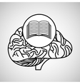 book brain school knowledge vector image