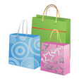 gift bags isolated on white background vector image