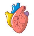 human heart organ icon cartoon style vector image