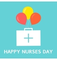 International nurses day poster vector image