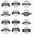 labels retro design vector image
