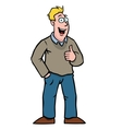 man with thumbs up vector image