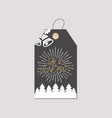 merry christmas and new year gift tag holiday vector image