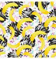 seamless hipster pattern bananas texture print vector image