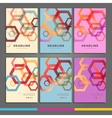 Set of six book covers the background hexagons vector image