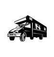 Camper Van Motor Home Retro vector image vector image