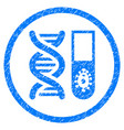 hitech microbiology rounded grainy icon vector image