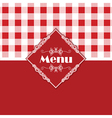 gingham pattern menu design 1303 vector image vector image