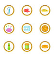 tailor icons set cartoon style vector image vector image