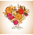 Valentine floral heart vector image