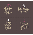Fat Egg Lactose Food Labels vector image