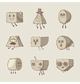 set of funny monsters vector image vector image