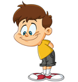 kid looking down vector image vector image