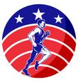 american marathon runner jogger vector image vector image