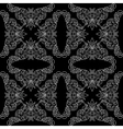 black seamless pattern with floral light elements vector image