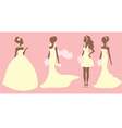 Bridal outfits vector image