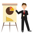 businessman with a business graph vector image