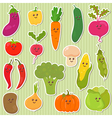 Cute vegetables healthy food vector image