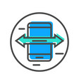 data stream icon with smartphone sign vector image