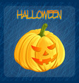halloween pumpkin icon in cartoon style jack o vector image
