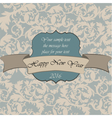 Happy New Year vintage card vector image