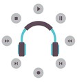 Headphone With Radio Buttons vector image