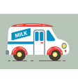 Milk Car vector image