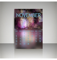 Polygonal 2016 calendar design for NOVEMBER vector image
