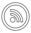 round symbol wifi connection icon vector image