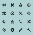 set of 16 editable tool icons includes symbols vector image