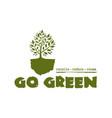 go green tree logo concept design vector image