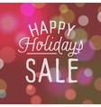 slogan bokeh sale holidays vector image