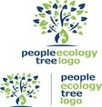 people ecology tree logo 5 vector image