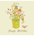 birthday card vector image