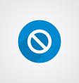 Blue Flat Prohibition Icon vector image