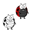 Cartoon red spotted ladybird or ladybug insect vector image