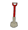 comic cartoon shovel vector image