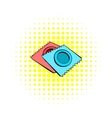 Condoms icon in comics style vector image