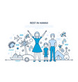 joint family holidays in warm places travel vector image