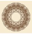 Round frame - vintage floral wreath vector image
