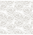 seamless pattern with hand draw sketch rose vector image