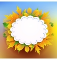 Autumn background with frame for text vector image